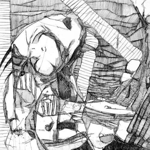 martin bozenhard - Hirnholz_02 - drawing - ink - 30cm x 30cm