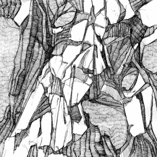 martin bozenhard - Hirnholz_03 - drawing - ink - 30cm x 30cm