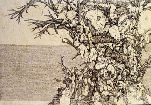 martin bozenhard - Traumbaum - drawing - ink - 60cm x 90cm