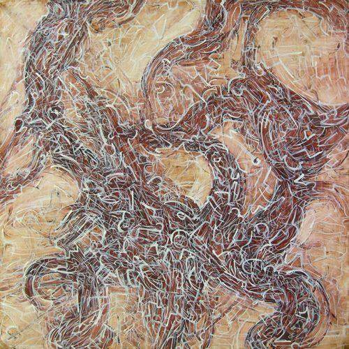 martin bozenhard - tobeyesque - painting - ink - 115cm x 115cm